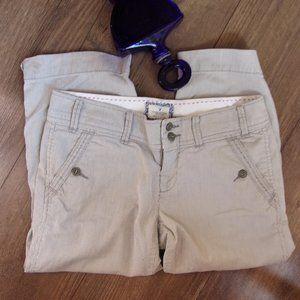 aeo size 2 womens striped cotton  capris pants